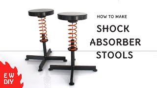 Shock absorber stools
