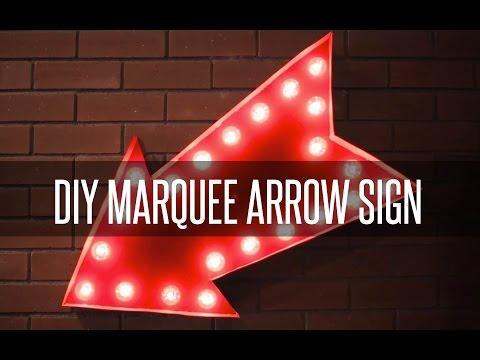 DIY MARQUEE ARROW SIGN