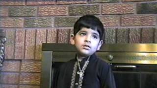 Hasnain Ali Rizvi 3.5 YEARS OLD - MERA SEHRIYAN WALA AKBAR(A.S)