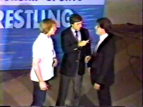 The Dynamic Duo attack Mike Von Erich 8/19/85 Ft Worth