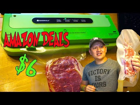 Food Vacuum Sealer by Marigold UNDER $10 WAS IT WORTH IT? Unbox and Review Amazon Deals