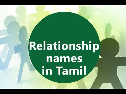 family relationship names in english and tamil
