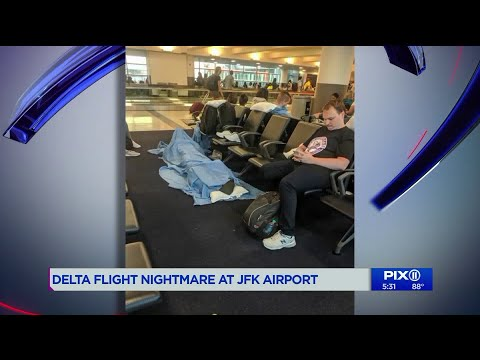 Passengers At JFK Fed Up After Delta Flight Delayed For Hours Overnight