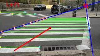Zebra Crosswalk Detection using OpenCV (Python)