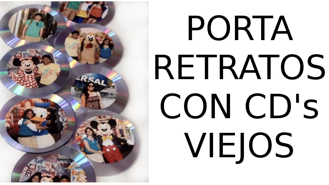 Reciclaje de cd 39 s viejos manualidades portaretratos con - Manualidades con cd viejos ...