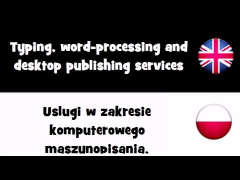 VOCABULARY IN 20 LANGUAGES = Typing, word processing and desktop publishing services