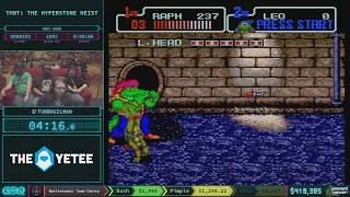 Teenage Mutant Ninja Turtles: The Hyperstone Heist by Turbo Gilman in 24:22 AGDQ 2018