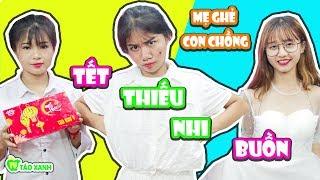 Bánh Trung Thu Chan Nước Mắt Ngày Tết Thiếu Nhi - Mẹ Ghẻ Con Chồng - Táo Xanh TV