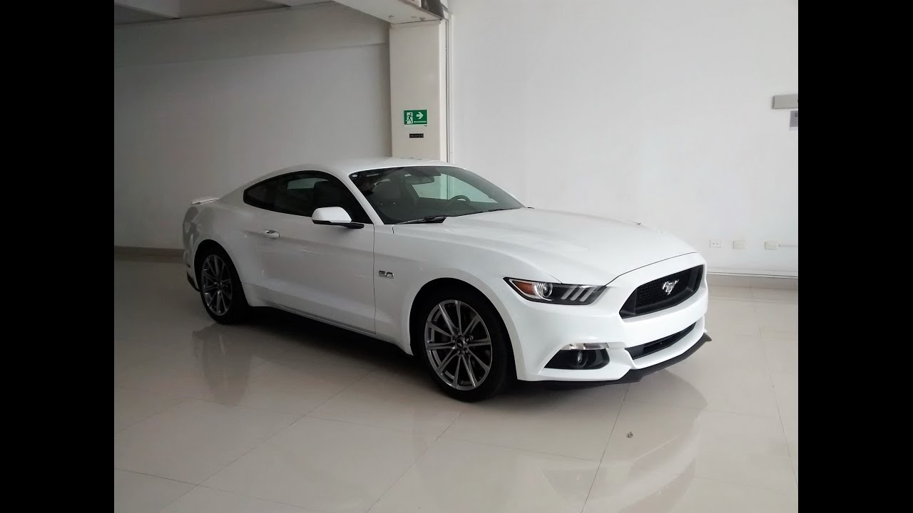 ford mustang gt 5 0 2017 galeria color blanco youtube. Black Bedroom Furniture Sets. Home Design Ideas
