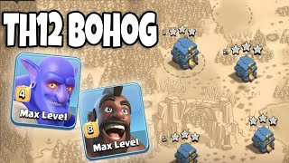 28 Max Hogs+5 Healer+7 Bowler+ Siege Machine=Hogs Army 3 Star TH12 | Best Th12 War Attack Style 2018