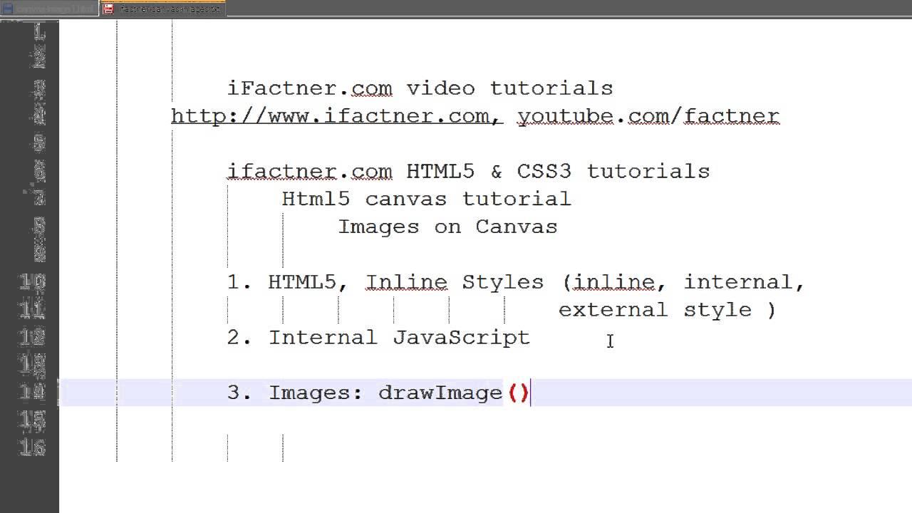 HTML5 Canvas tutorial in Hindi Urdu Images part 1 using inline CSS3 Java  Script 12