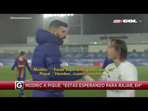 "Modric a Piqué: ""Ahora a rajar, ¿eh?"""
