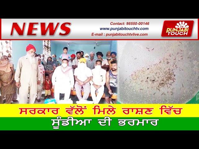 ਸਰਕਾਰੀ ਰਾਸ਼ਣ ਵਿੱਚ ਸੁੰਡੀਆਂ ਦੀ ਭਰਮਾਰ Sarkari Rashan | Punjabi News | Vijay Pahwa | Punjabi Touch TV