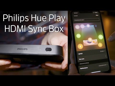 The Philips Hue Play HDMI Sync Box lets you sync Hue lights with your TV