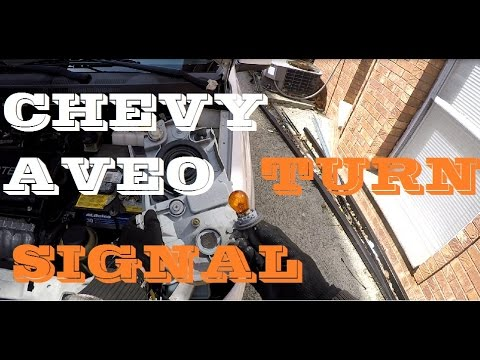 How to change Turn signal Chevrolet Aveo
