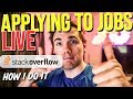 🔴 Showing you how I apply to jobs - L