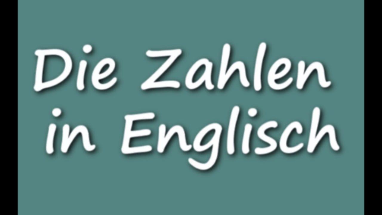 zählen englisch