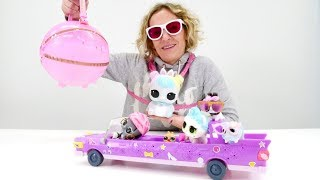Nicole packt  L.O.L  Surprise aus. Die Biggie Pets. Spielzeugvideo für Kinder