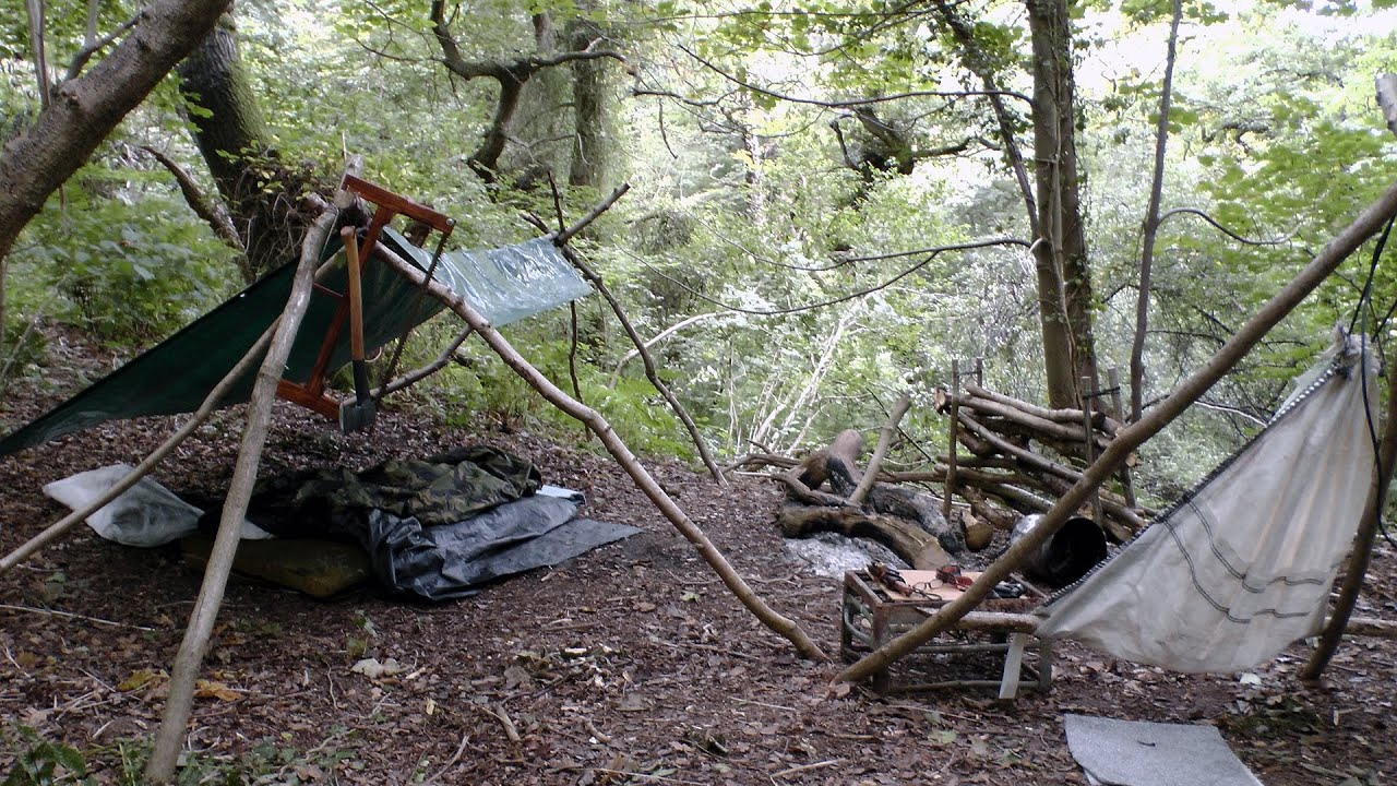 camping in the woods.  The Wild Camping In The Woods El Cheapo Style With