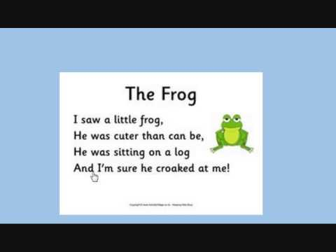 Short Poem About The Frog Primary School Youtube
