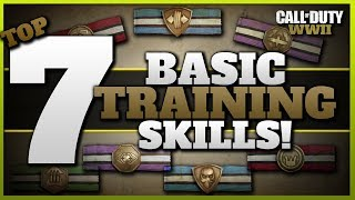 Top 7 Basic Training Skills in CoD WW2! | (Full Basic Training Perk List)