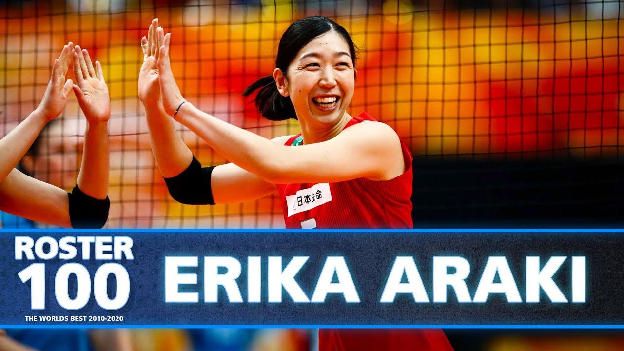 Top Actions by Erika Araki 荒木 絵里香 - Middle Blocker & Captain of Japan!   #ROSTER100