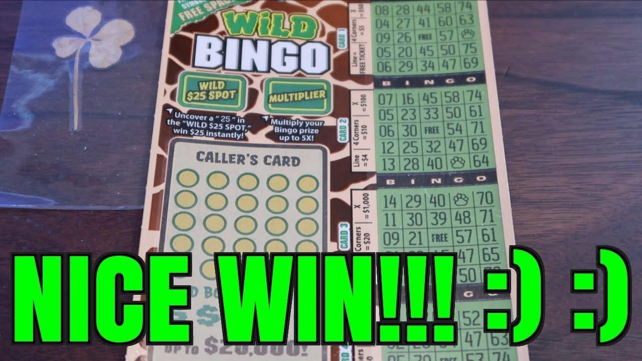 NICE WIN ON $3 WILD BINGO CALIFORNIA LOTTERY SCRATCHER!!! ALMOST FORGOT  ABOUT IT LOL