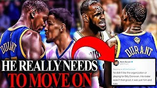 What is wrong with kevin durant? he needs to stop fighting it! fake account drama