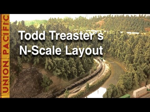 A Visit to Todd Treaster's N-Scale Layout