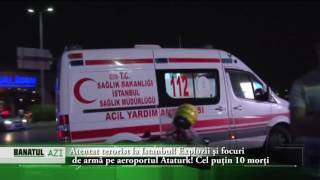 Atentat terorist la Istanbul! Explozii şi focuri de armă pe aeroportul Ataturk!