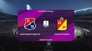 PES 2020 *Ind Medellin Vs Deportivo Pereira || Liga Betplay - PS4