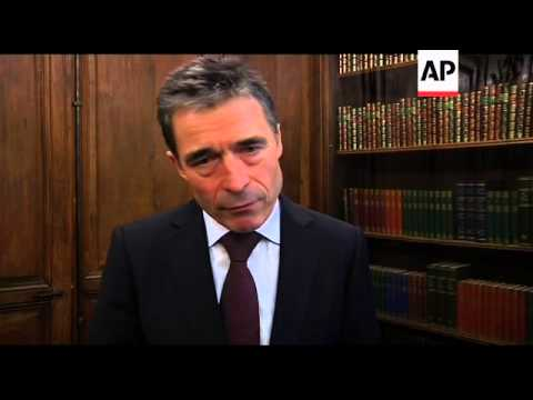 NATO chief talks to AP about Syria and missile shield