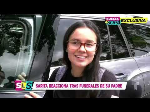 Sarita Sosa reacciona tras los funerales de su papá