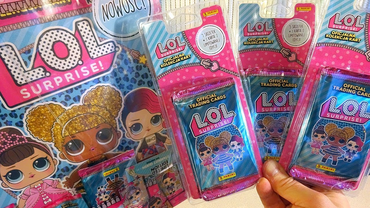 OFFICIAL TRADING CARD PACKETS L.O.L PANINI L.O.L SURPRISE SURPRISE NEW LOL