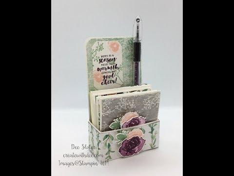 3x3 Note Cards Mini Stationery Set Box