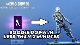"How To Get ""BOOGIE DOWN"" Emote For FREE in FORTNITE under 2 MINUTES!"