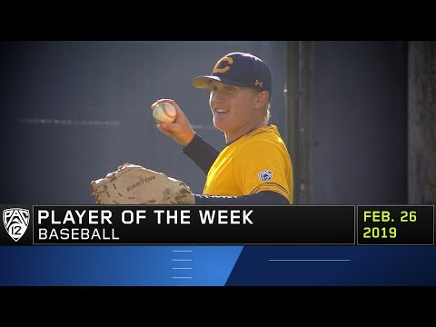 California's Andrew Vaughn nabs his fifth career Pac-12 Baseball Player of the Week honor