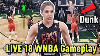 BRITTNEY GRINER DUNKS!! WNBA ALL STAR GAME!!  | NBA LIVE 18 PS4 GAMEPLAY