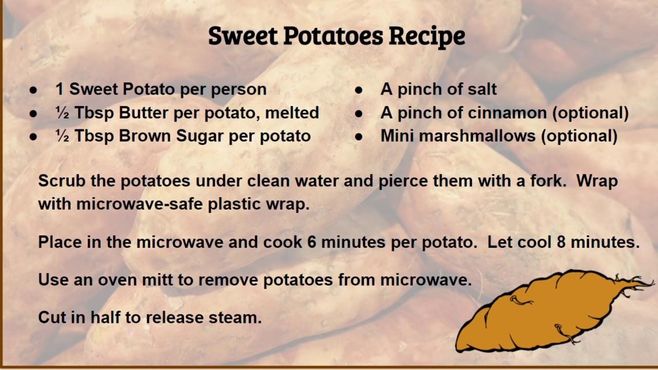 Sweetpotato Microwave Microwavecooking