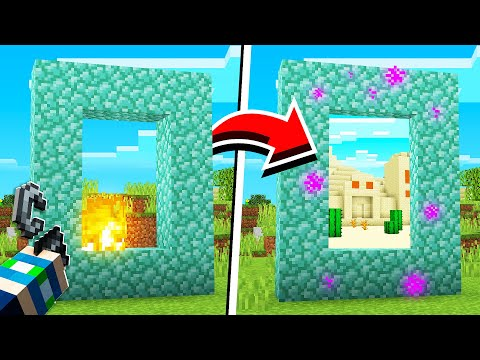 How To Turn ANYTHING INTO A PORTAL In Minecraft! (NO MODS!)
