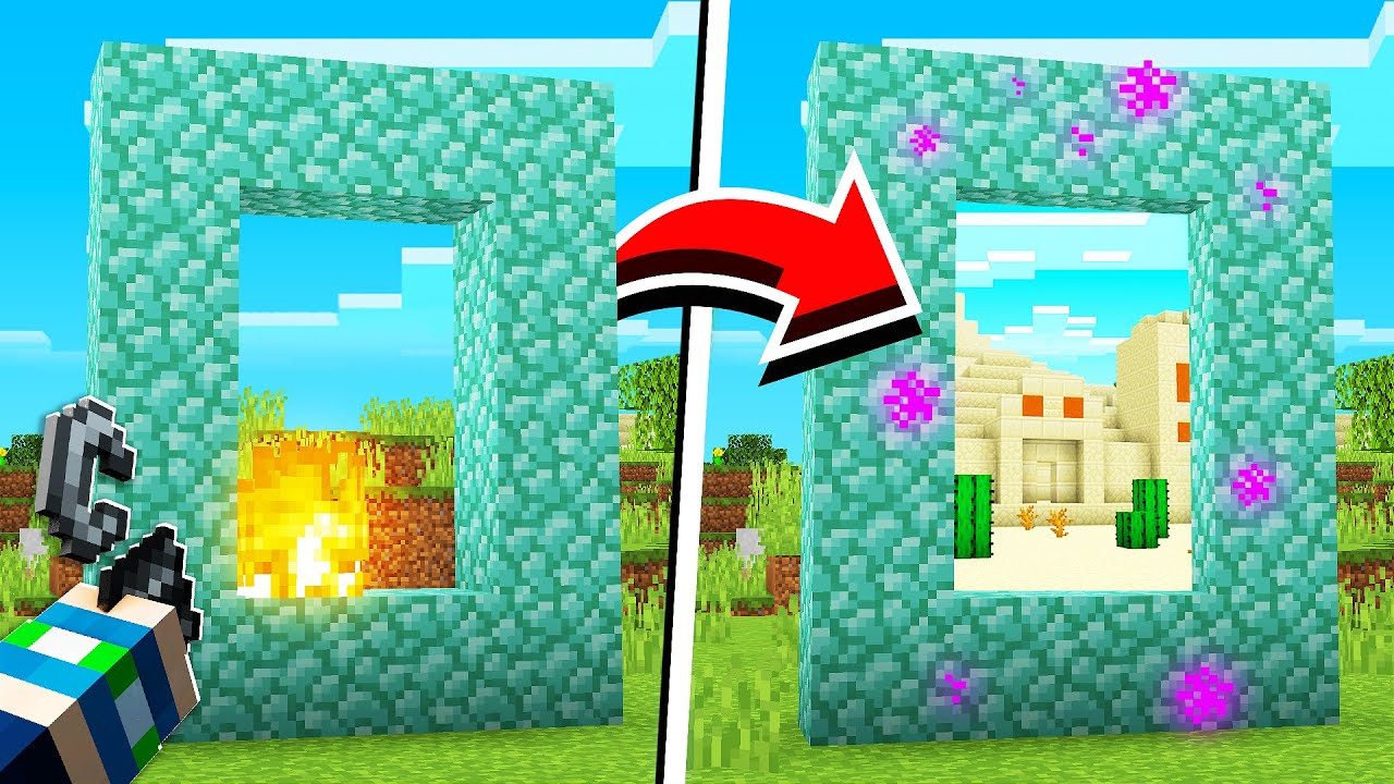 How to Turn ANYTHING INTO A PORTAL in Minecraft (NO MODS ) YouTube