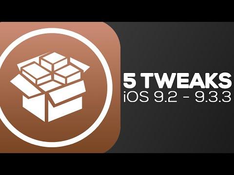 5 TWEAKS PARA iOS 9.2 - 9.3.3