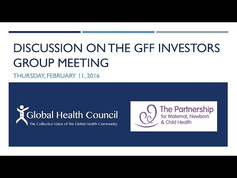 Civil Society Discussion on the GFF Investors Group Meeting