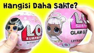 Fake LOL Glam Glitter Challenge | Hangisi Daha Sahte? Zep