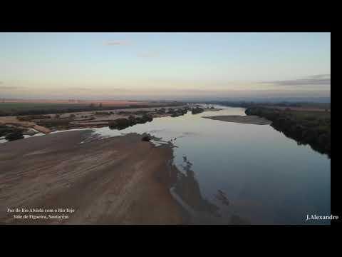 Foz do Rio Alviela em Vale de Figueira 4K