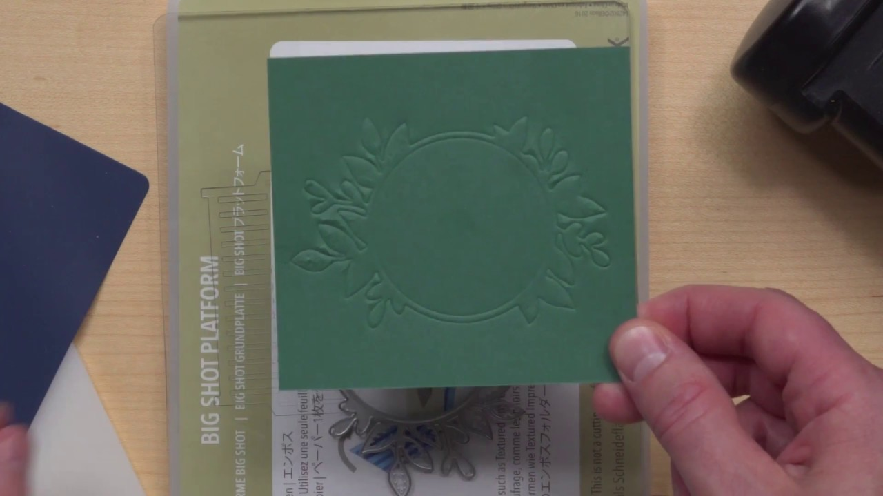 Big Shot Embossing Mats From Stampin Up