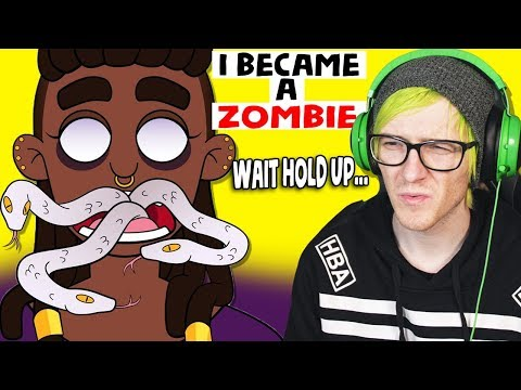 """She """"Died and became a Zombie"""" REALLY? - Reacting to """"True Story"""" Animations"""
