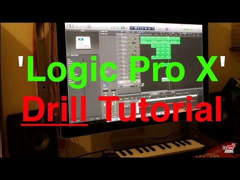 How To Make A Simple Drill Beat | On 'Logic Pro X' | (In 15 Minutes)