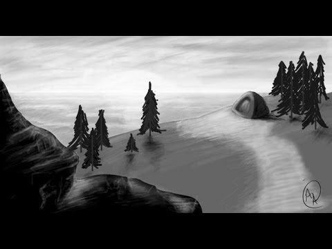 Concept Landscape. Speed Painting. Photoshop CS5.