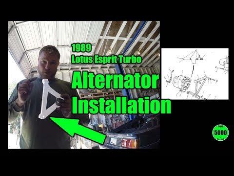 1989 Lotus Esprit Turbo Alternator Installation part 3